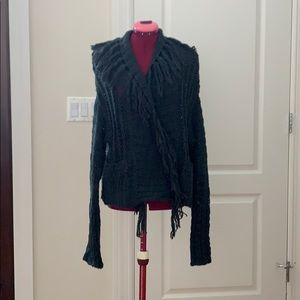 Open Cardigan with fringe detail